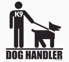 Dog Handler K9 Pictogram by grym
