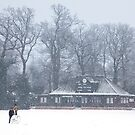 No Cricket Today - winter in Weybridge by Rachael Talibart