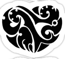 3 Heart Tattoos Sticker