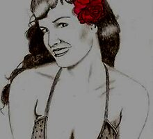 Bettie Page by Zeb Shaffer