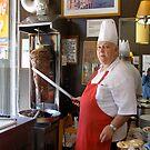 Doner Kebab Chef by Anita Donohoe