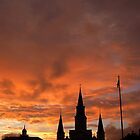 St. Louis Cathedral at Sunset by UncleBug