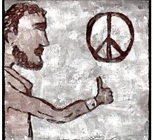 Thumbs-Up for Peace Photographic Print