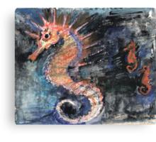 Three Seahorses Canvas Print