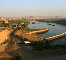 Nile River below the Aswan Dam by Laurel Talabere
