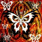 """TRIBAL BUTTERFLY""""S by LESLEY B"""