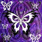 "PURPLE BUTTERFLY""S by LESLEY B"