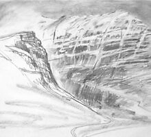Bealach nam Ba pencil sketch 2 by Julie Arbuckle