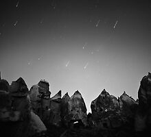 Night Over the Giants - Cappadocia, Turkey by Matej Kastelic
