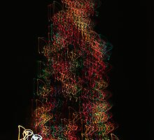 Suburb Christmas Light Series - Dancing around the Tree by David J. Hudson