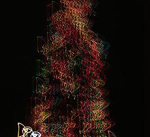 Suburb Christmas Light Series - Dancing around the Tree by David J. Hudson