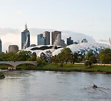 Melbourne AAMI Park at Sunset by fredz