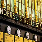 The Golden Flinders Street Station by fredz