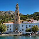 The Monastery on Symi by Tom Gomez
