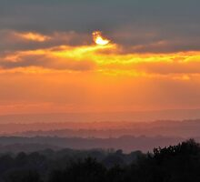 Ashdown Forest Sunset by Carl Goulding