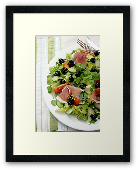 Blackberry Prosciutto Salad by Jeanne Horak-Druiff