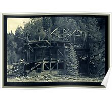 Abandoned Mine Structure Poster