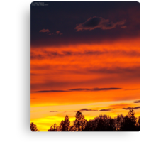 Rooftop Sunset 4 Canvas Print