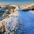 Malvern Hills: Snow on British Camp by Angie Latham