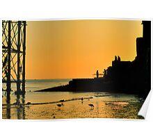 Sunset Silhouette - Brighton - England Poster