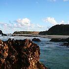 Rocks along the Sand by aussiebushstick