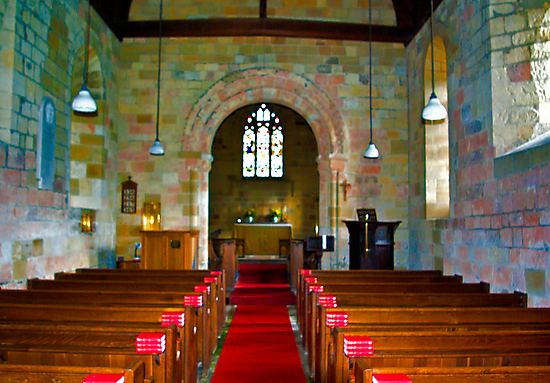 Interior of St John Church by Trevor Kersley