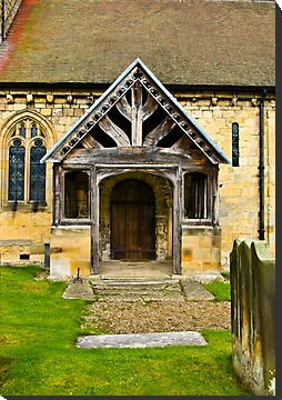 The Entrance Door St John's Church. by Trevor Kersley