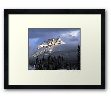 Castle In The Clouds Framed Print
