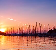 Adriatic sunset. Vrsar, Croatia  by evimagery