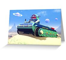 Toy Space Tank Greeting Card