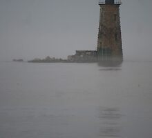 Out of the Mist - Lighthouse, Portsmouth, NH by Dragynfly