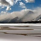 Thawing Jackson Lake by Loree McComb