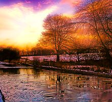 Frozen Canal by Renderbrant