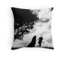 Mowgli and the Wolf Throw Pillow