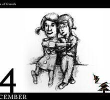 December 4th - A couple of friends by 365 Notepads -  School of Faces