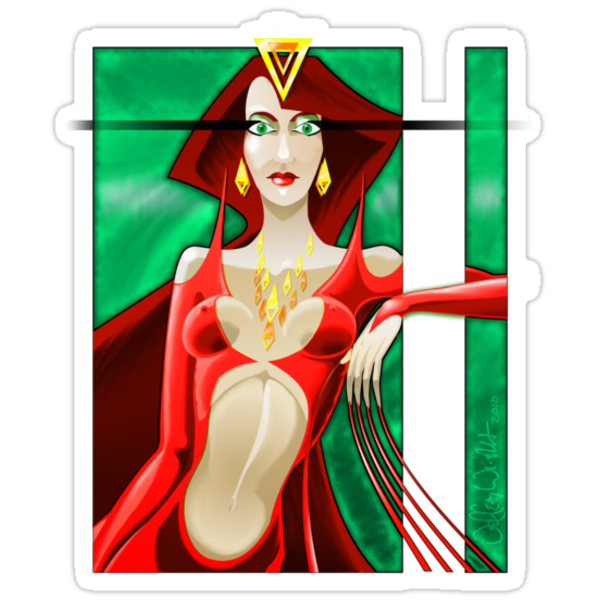 Red Queen Full Front by Jeffery Wright