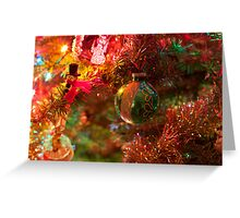 Christmas tree close up. Greeting Card