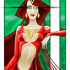 Red Queen Print by Jeffery Wright
