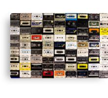 cassette tape wall in australia Canvas Print