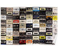 cassette tape wall in australia Poster