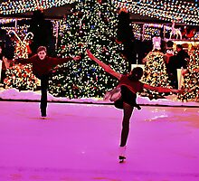 Skating around the Christmas tree by cherylc1