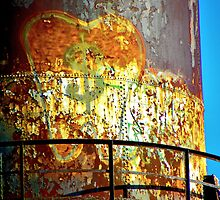 Water Tower Graffiti 2 by designerbecky
