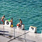 Swimmers at Merewether Baths by Jessica Ward