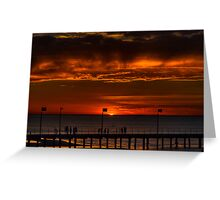 The Sun Sets (HDR) Greeting Card