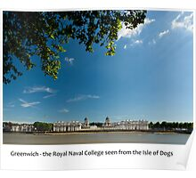 UK - Greenwich Royal Naval College Poster