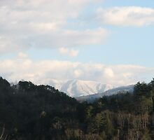 """Thunderhead Mountain"" - GSMNP - Snow Covered Rocky Top TN by JeffeeArt4u"