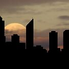 Moonlight Over Perth City by Eve Parry