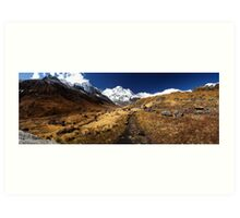 Annapurna South, Himalaya, Nepal. Art Print