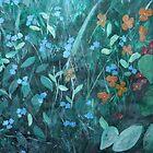 Flowers in garden - card by Margo Humphries