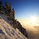 Chamechaude summit at sunset by Willy Vendeville